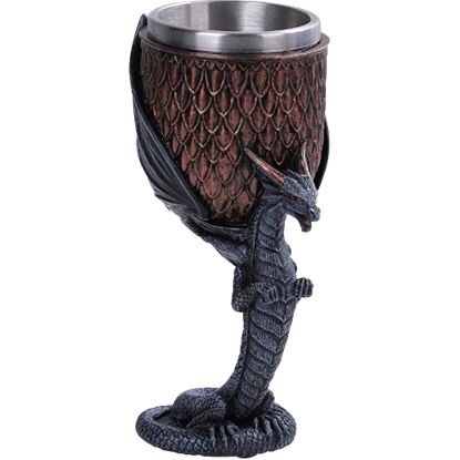 Copper Dragon Stem Goblet