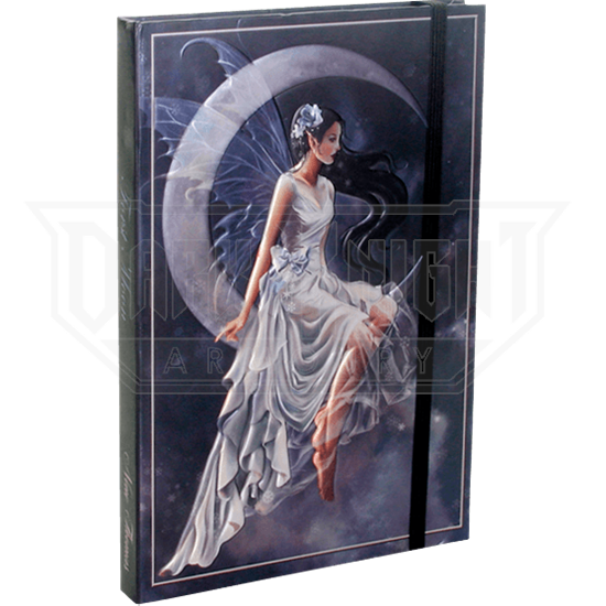Embossed Frost Moon Fairy Journal