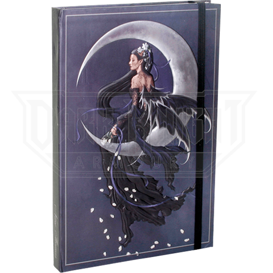Embossed Solace Moon Fairy Journal