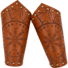 Helm of Awe Leather Arm Bracers