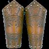 Tree of Life Leather Arm Bracers