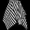 Striped Short Handkerchief Skirt
