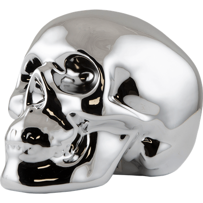 Silver Skull Money Bank
