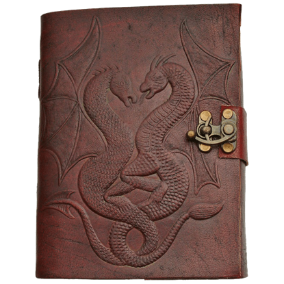 Dragon Duo Locked Leather Journal