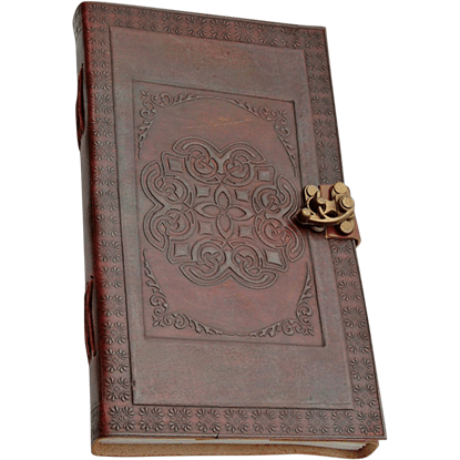 Celtic Knot Leather Journal With Lock