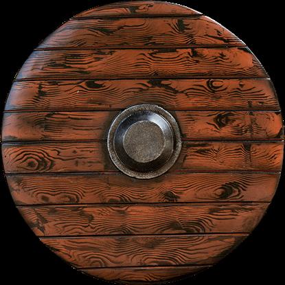 Drang Round LARP Shield - Wood