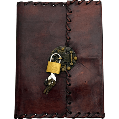 Laced Leather Journal with Padlock