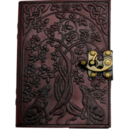 Wolves with Tree of Life Leather Journal