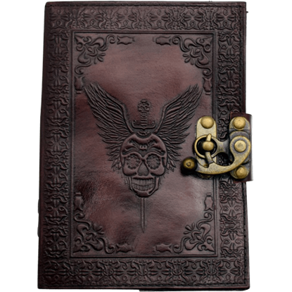 Skull with Wings Leather Journal