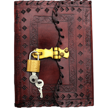 Embossed Leather Journal with Padlock