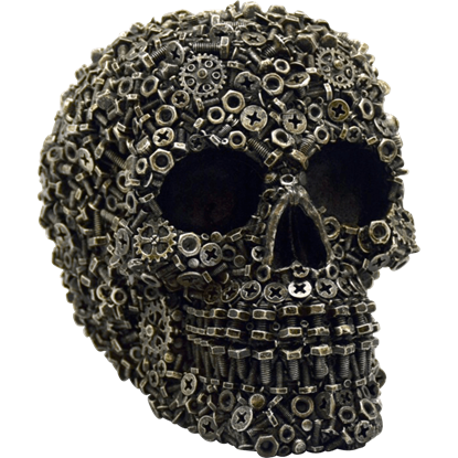 Screws and Bolts Skull Statue