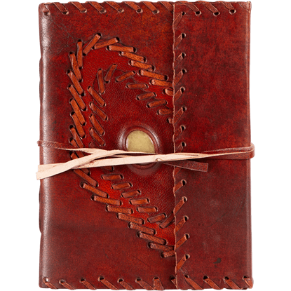 Leather Diary with Gemstone