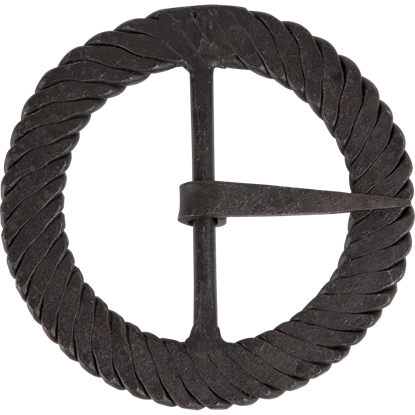 3 Inch Twisted Iron Round Buckle