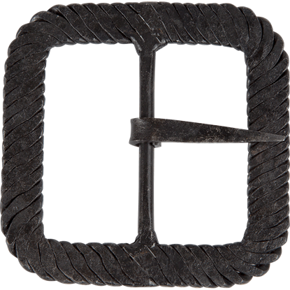 3 Inch Twisted Iron Square Buckle