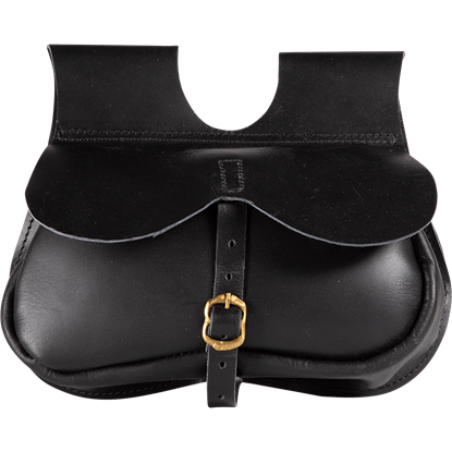 Buckled Travelers Pouch - Black