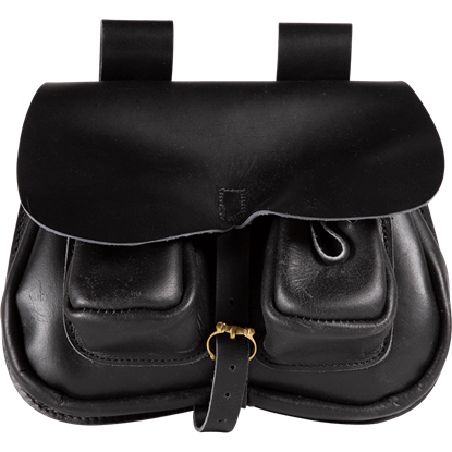 Leather Flap Bag with Pocket