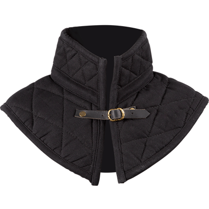 Brass Buckle Padded Collar - Black