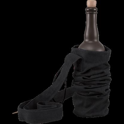 Canvas Bottle Bag - Black