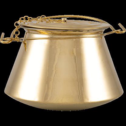 Medieval Cooking Pot - Brass
