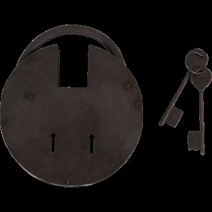 Large Medieval Padlock with Keys