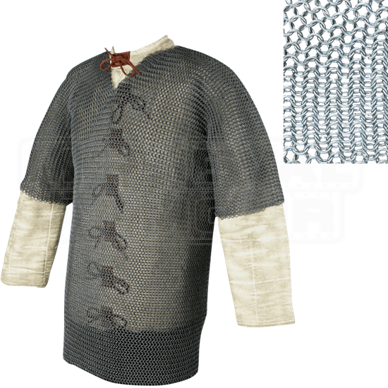 Short Sleeve Butted Chainmail Hauberk