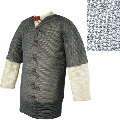 Half Sleeve Riveted 48 Inch Aluminum Chainmail Shirt