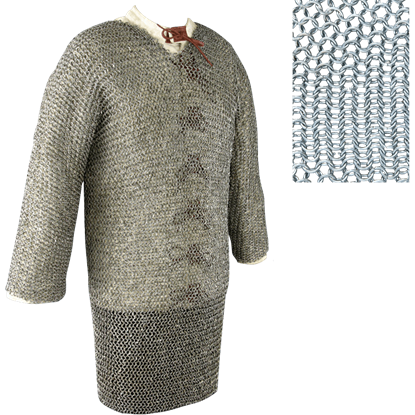 Full Sleeve Butted Chainmail Hauberk