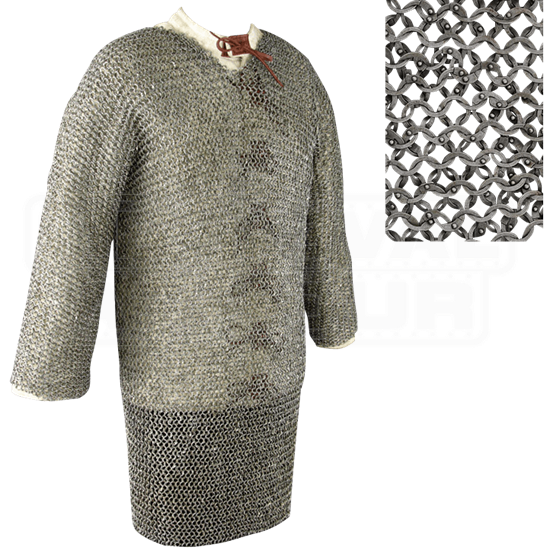 Full Sleeve Flat Ring Chainmail Hauberk
