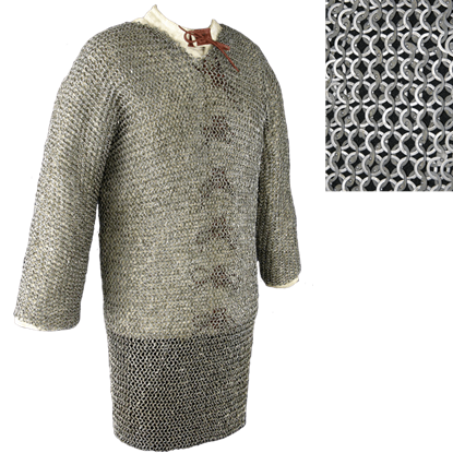 48 Inch Full Sleeve Chainmail Hauberk