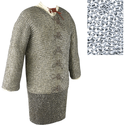 Full Sleeve Riveted 48 Inch Aluminum Chainmail Shirt