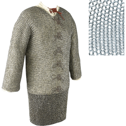 Full Sleeve Round Ring Chainmail Hauberk - Butted - Small