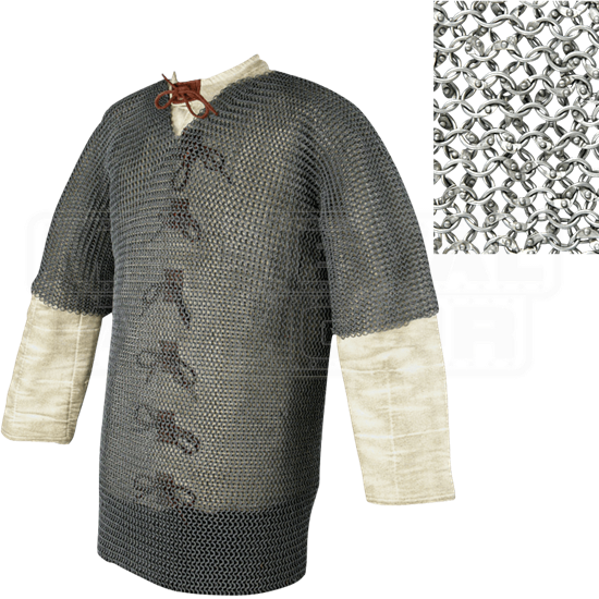 Short Sleeve Round Ring Chainmail Hauberk