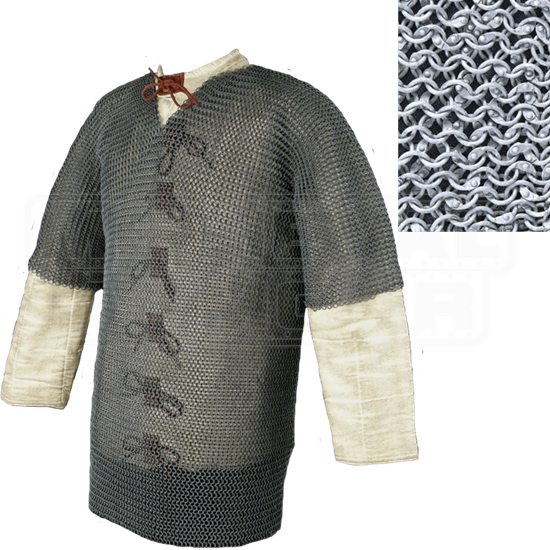 Half Sleeve Riveted 60 Inch Aluminum Chainmail Shirt
