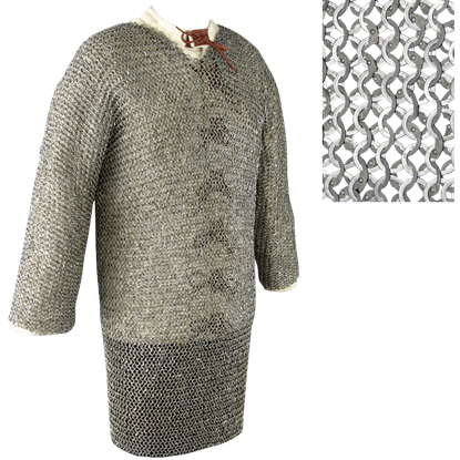 60 Inch Full Sleeve Chainmail Hauberk