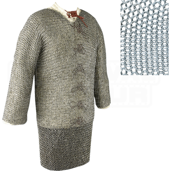 Full Sleeve Round Ring Chainmail Hauberk