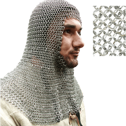 European Flat Ring Chainmail Coif