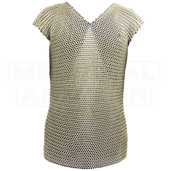 Sleeveless 60 Inch Butted Chainmail Shirt
