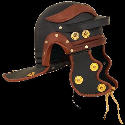 Leather Roman Trooper Helmet