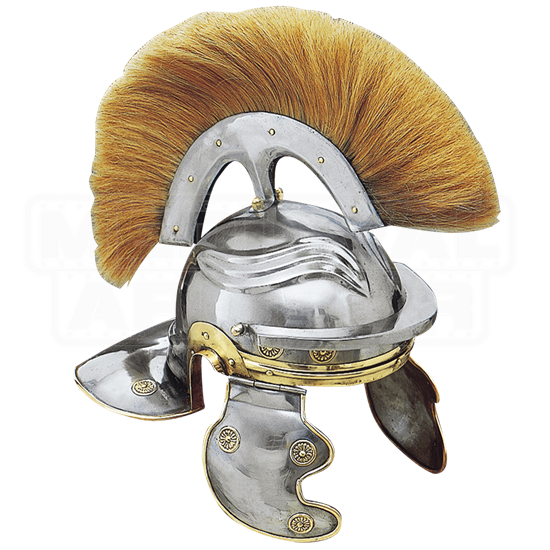 Imperial Italic Guard Helm with Blond Plume