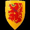 Wooden Crusader Lion Shield