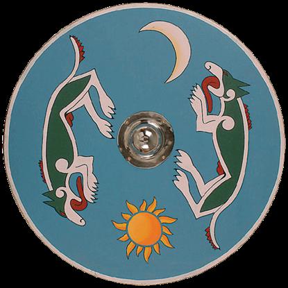 Wooden Viking Dragon Shield