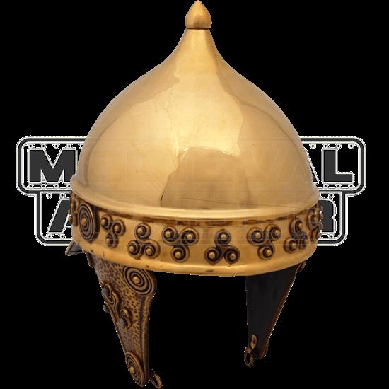 Brass Celtic Helmet