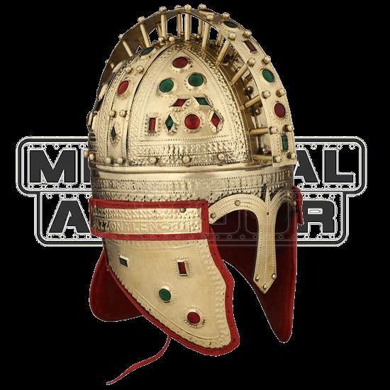 Late Roman Officer Jeweled Berkasovo Helmet