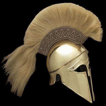 Italo Brass Corinthian Helm with Plume
