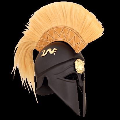 Royal Corinthian Helmet With Plume