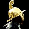 Brass Gladiator Mosaic Helmet