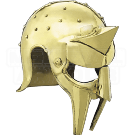 Brass Gladiator Arena Helmet