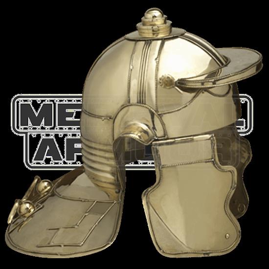 Brass Italic H NiederMormter Helmet