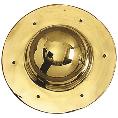Round Brass Shield Boss