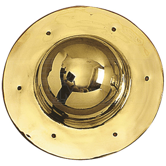 Round Brass Shield Boss